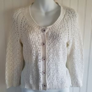 Anthropologie Knitted & Knotted Cardigan Sweater
